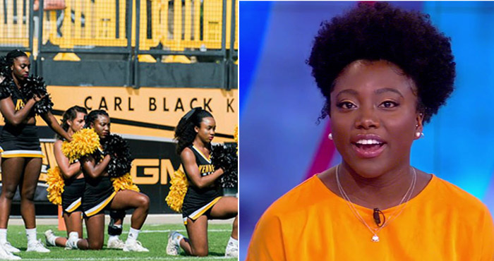 Kennesaw State Football Cheerleader Who Pun-ished For Taking A Knee During National Anthem Now Wins $145k Settlement – VIDEO